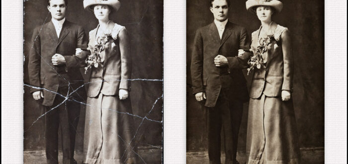 Restoration, photo restoration, image restoration, copy and print, collage